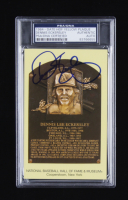 Dennis Eckersley Signed Hall of Fame Plaque Postcard (PSA Encapsulated) at PristineAuction.com
