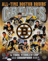 Bruins Greats 11x14 Photo Signed By (6) With Bobby Orr, Ray Borque, Johnny Bucyk, Cam Neely (JSA COA) at PristineAuction.com
