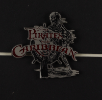 """Disneyland """"Pirates of the Caribbean"""" 15x26 Custom Framed Print Display with Ticket Booklet & Pirates of the Caribbean Metal Ride Pin at PristineAuction.com"""