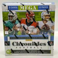 2020 Panini Chronicles Football Trading Card Mega Box with (10) Packs at PristineAuction.com