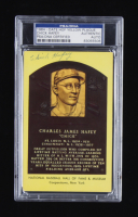 Chick Hafey Signed Hall of Fame Plaque Postcard (PSA Encapsulated) at PristineAuction.com