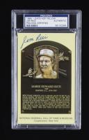 Jim Rice Signed Hall of Fame Plaque Postcard (PSA Encapsulated) at PristineAuction.com