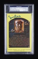 Ernie Banks Signed Hall of Fame Plaque Postcard (PSA Encapsulated) at PristineAuction.com