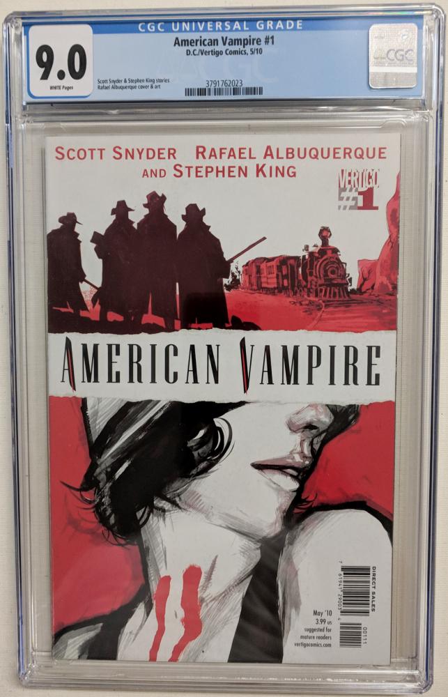 """2010 """"American Vampire"""" Issue #1 Vertigo Comic Book (CGC 9.0) at PristineAuction.com"""