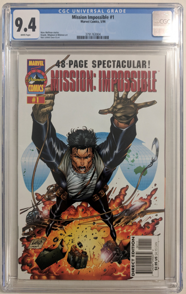 """1996 """"Mission Impossible"""" Issue #1 Marvel Comic Book (CGC 9.4) at PristineAuction.com"""