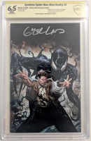 """Greg Land signed 2020 """"Symbiote Spider-Man: Alien Reality"""" Issue #5 Comics Elite Variant Marvel Comic Book (CBCS Encapsulated - 6.5) at PristineAuction.com"""