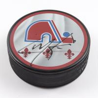 Cale Makar Signed Avalanche Logo Hockey Puck (Fanatics Hologram) at PristineAuction.com
