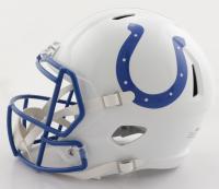 "Reggie Wayne Signed Colts Full-Size Matte White Speed Helmet Inscribed ""Forever A Colt"" (PSA COA) at PristineAuction.com"