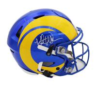 Kurt Warner Signed Rams Full-Size Authentic On-Field SpeedFlex Helmet (Beckett COA) at PristineAuction.com