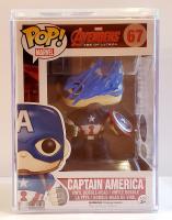 "Stan Lee Signed ""Captain America"" #67 Captain America Funko Pop! Vinyl Figure (JSA COA & Lee Hologram) at PristineAuction.com"