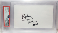 """Randy Travis Signed 3x5 Index Card Inscribed """"2020"""" (PSA Encapsulated) at PristineAuction.com"""