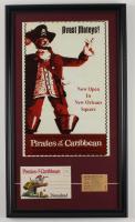 "Disneyland ""Pirates of the Caribbean"" 15x26 Custom Framed Print Display with Vintage Photo Portfolio & Ticket (See Description) at PristineAuction.com"