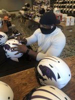 Ray Lewis Signed Ravens Full-Size Authentic On-Field Lunar Eclipse Alternate SpeedFlex Helmet (Radtke COA) at PristineAuction.com