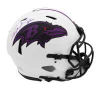 Ray Lewis Signed Ravens Full-Size Authentic On-Field Lunar Eclipse Alternate Speed Helmet (Radtke COA) at PristineAuction.com