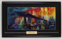 "LeRoy Neiman ""The Brooklyn Bridge"" 15x25 Custom Framed Print Display (See Description) at PristineAuction.com"