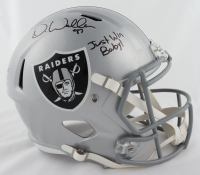 "Darren Waller Signed Raiders Full-Size Speed Helmet Inscribed ""Waller The Baller"" & ""Just Win Baby!"" (Beckett COA) at PristineAuction.com"
