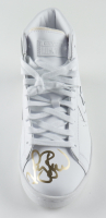 Larry Bird Signed Converse Leather Basketball Shoe (PSA COA) at PristineAuction.com