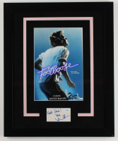 """Kevin Bacon Signed """"Footloose"""" 18.25x22.25 Custom Framed Cut Display Inscribed """"Good Luck!"""" & """"Yours"""" (AutographCOA COA) (See Description) at PristineAuction.com"""