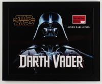 "James Earl Jones Signed ""Star Wars"" 18.25x22.25 Custom Framed Cut Display (AutographCOA COA) (See Description) at PristineAuction.com"