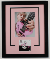 """Macine Gun Kelly Signed """"Tickets To My Downfall"""" 18.25x22.25 Custom Framed Cut Display (AutographCOA COA) (See Description) at PristineAuction.com"""