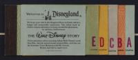 Disneyland 17x26.5 Custom Framed Vintage Map Display with Vintage Ticket Book & Pin (See Description) at PristineAuction.com