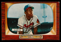 Hank Aaron 1955 Bowman #179 at PristineAuction.com