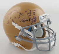 Rudy Ruettiger Signed Notre Dame Fighting Irish Mini Helmet With Hand Drawn Play (Ruettiger Hologram) (See Description) at PristineAuction.com