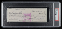 """Theodore """"Ted"""" Williams Signed Hand-Written 1982 Personal Bank Check (PSA Encapsulated) at PristineAuction.com"""