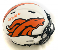 Javonte Williams Signed Broncos Full-Size Authentic On-Field Lunar Eclipse Alternate Speed Helmet (Beckett Hologram) at PristineAuction.com