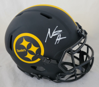 Najee Harris Signed Steelers Full-Size Authentic On-Field Eclipse Alternate Helmet (Beckett Hologram) at PristineAuction.com
