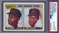 Joe Morgan Signed 1965 Topps #16 Rookie Stars Sonny Jackson RC DP (PSA Encapsulated) at PristineAuction.com