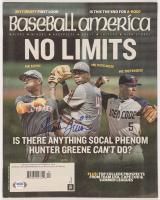 Hunter Greene Signed 2016 Baseball America Magazine (PSA Hologram) at PristineAuction.com