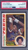 Julius Erving Signed LE 1978-79 Topps #130 (PSA Encapsulated) at PristineAuction.com