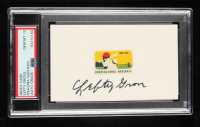 Lefty Grove Signed 3x5 Index Card with 1969 Postage Stamp (PSA Encapsulated) at PristineAuction.com