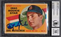 Carl Yastrzemski Signed 1960 Topps #148 RS RC (BGS Encapsulated) at PristineAuction.com