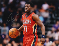 Jrue Holiday Signed Pelicans 11x14 Photo (PSA Hologram) at PristineAuction.com