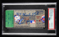 """Nolan Ryan Signed 1969 Original World Series Game Ticket Inscribed """"1969 Miracle Mets"""" (PSA Encapsulated) at PristineAuction.com"""