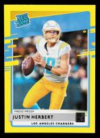 Justin Herbert 2020 Donruss Press Proof Yellow #303 RR at PristineAuction.com