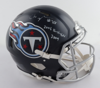 """Chris Johnson Signed Titans Full-Size Authentic On-Field Speed Helmet Inscribed """"2006 Rush Yds 2009"""" (Beckett COA) (See Description) at PristineAuction.com"""