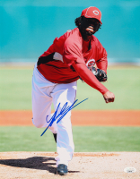 Johnny Cueto Signed Reds 11x14 Photo (JSA Hologram) at PristineAuction.com