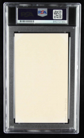 Hank Greenberg Signed 3x5 Index Card with 1969 Postage Stamp (PSA Encapsulated) at PristineAuction.com