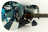 """38"""" Custom Abbey Road Beatles Acoustic Guitar Band-Signed by (6) with Pete Best, Rod Davis, Andy White, Sid Bernstein (JSA COA) (See Description) at PristineAuction.com"""