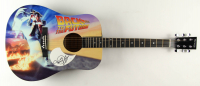 "Michael J. Fox Signed 38"" Custom ""Back To The Future"" Acoustic Guitar (JSA COA) (See Description) at PristineAuction.com"