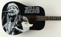 """Willie Nelson Signed 38"""" Acoustic Guitar (JSA COA) at PristineAuction.com"""