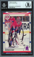 Patrick Roy Signed 1990-91 Score #10 (BGS Encapsulated) at PristineAuction.com