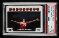 LeBron James 2008-09 Topps Chrome #23 (PSA 8) at PristineAuction.com