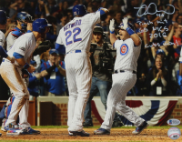 """Miguel Montero Signed Chicago Cubs 11x14 Photo Inscribed """"Pinch Hit"""", """"G5 NLCS"""" & """"Cubs Win!"""" (Beckett COA) at PristineAuction.com"""