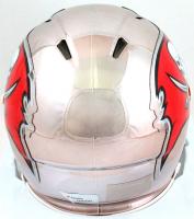 Tom Brady Signed Buccaneers Chrome Speed Mini Helmet (Fanatics Hologram) at PristineAuction.com