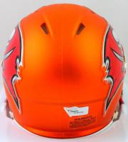 Tom Brady Signed Buccaneers Blaze Speed Mini Helmet (Fanatics Hologram) at PristineAuction.com
