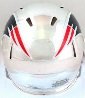 Tom Brady Signed Patriots Chrome Speed Mini Helmet (Fanatics Hologram) at PristineAuction.com